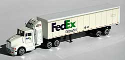 Model car - FedEx Ground - Tractor with Trailers - 1/87