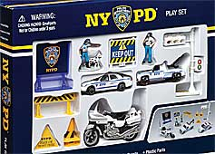 NYPD New York Police Department Play Set for Children 13 Parts