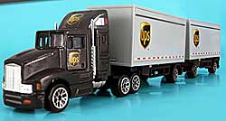 Model car - UPS Tractor with 2 Trailers - 1/87